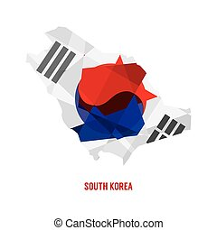 Map of South Korea.