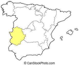 Estremadure Espagne Carte.Carte Extremadura My Blog