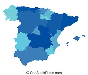 Map of asturias spain Vector map of region of asturias vector