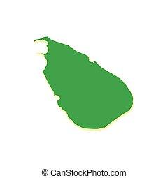 Map of Sri Lanka icon, cartoon style