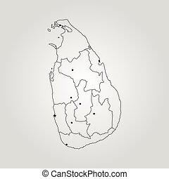 Sri lanka political map with capitals sri jayawardenepura eps