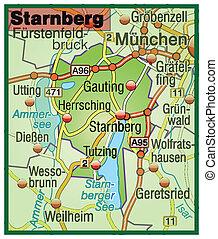Map of starnberg