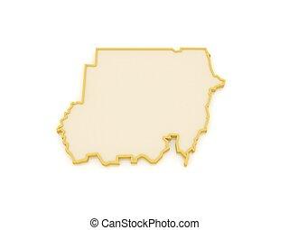 Map of Sudan.