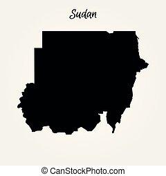 Map of Sudan. Vector illustration. World map
