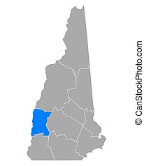 Map of Sullivan in New Hampshire