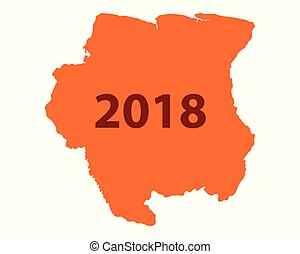 Map of Suriname 2018