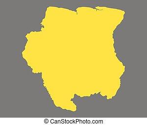 Gray suriname map Administrative divisions of suriname vector