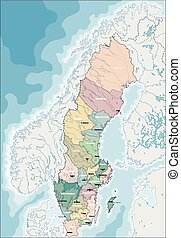 Map of Sweden - Kingdom of Sweden is a Scandinavian country...
