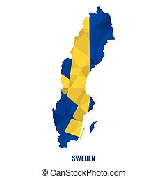 Map Of Sweden Vector Illustration