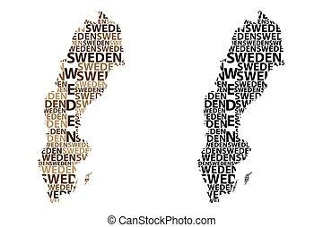 Map of Sweden - vector illustration