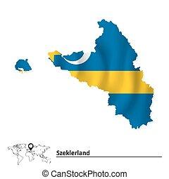 Map of Szeklerland with flag