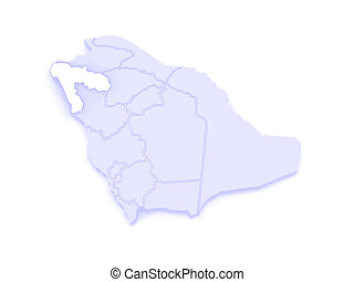 Map of tabuk saudi arabia 3d clipart Search Illustration