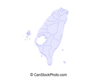 Map of tainan city taiwan 3d stock illustration Search EPS Clip