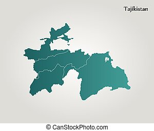 Map Of Dushanbe Tajikistan D Stock Illustration Search Clip - Dushanbe map