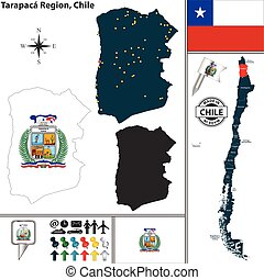 Map of Tarapaca, Chile