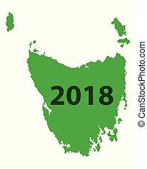 Map of Tasmania 2018