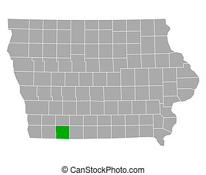 Map of Taylor in Iowa