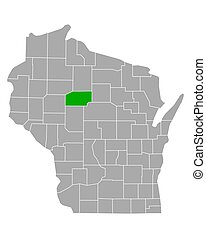 Map of Taylor in Wisconsin