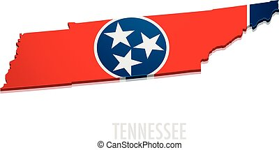Map of Tennessee - detailed illustration of a map of ...