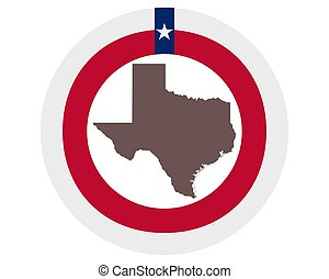 Map of Texas on background with flag