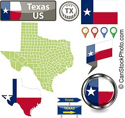 Map of Texas, US