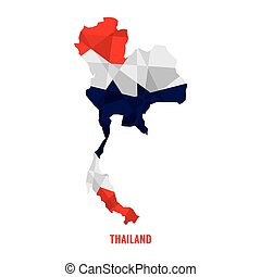 Map of Thailand Vector Illustration
