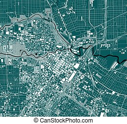 map of the city of Houston, Texas, USA - vector map of the ...