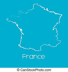 Map of the country of France