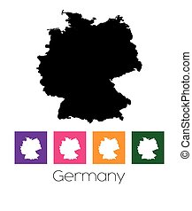 Map of the country of Germany