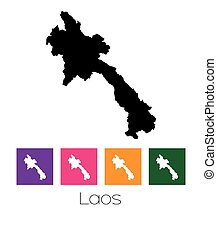 Map of the country of Laos