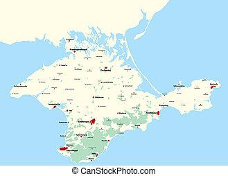 Map of the Crimea