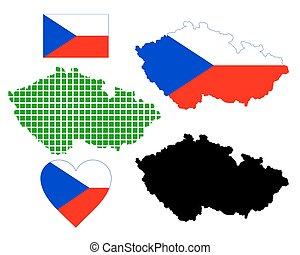 map of the Czech Republic - Czech Republic map of different...