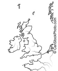 Map of The ENGLISH Lands: UK, Great Britain, England, ...