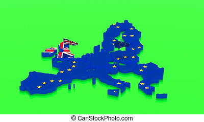 Map of the European Union and Great Britain with state...