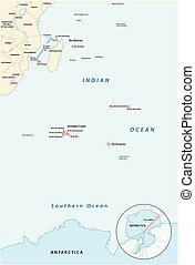 Map of the French Southern and Antarctic Territories