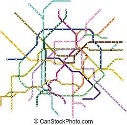 Paris Metro Subway Map.Paris Metro Train Illustrations Graphics Clipart Can Stock Photo