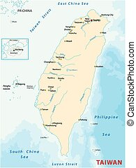 Map of the Republic of China Taiwan - Map of the Republic of...