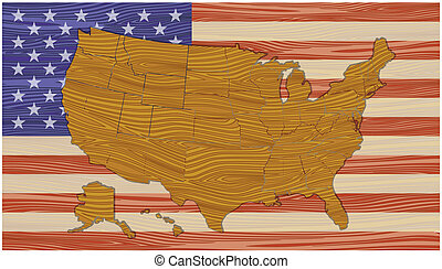 Map of the US flag