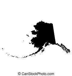 map of the u s state alaska