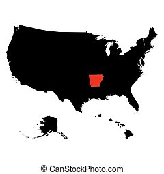 map of the U.S. state Arkansas