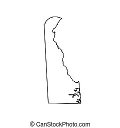 map of the U.S. state Delaware