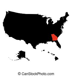 map of the U.S. state Georgia