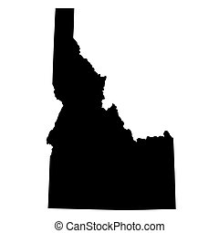map of the U.S. state Idaho - map of the U.S. state of Idaho