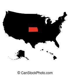 map of the U.S. state Kansas