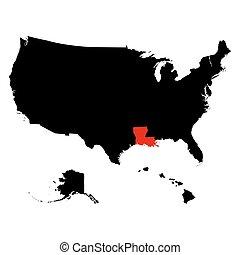 map of the U.S. state Louisiana