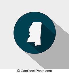 Map of the U.S. state Mississippi