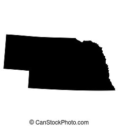 map of the U.S. state Nebraska