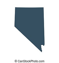 map of the U.S. state Nevada - map of the U.S. state of ...