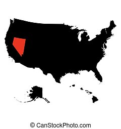 map of the U.S. state Nevada