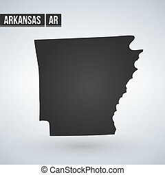Map of the U.S. state of Arkansas on a white background.